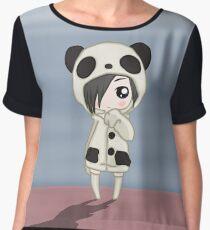 Kawaii Panda Girl Women's Chiffon Top
