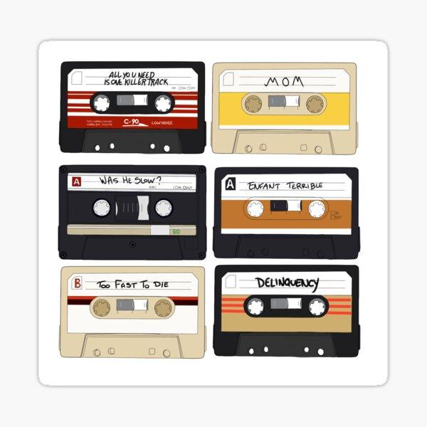 Baby Driver- Cassette Tape Set  Sticker