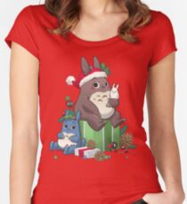 Neighbourly Christmas Women's Fitted Scoop T-Shirt