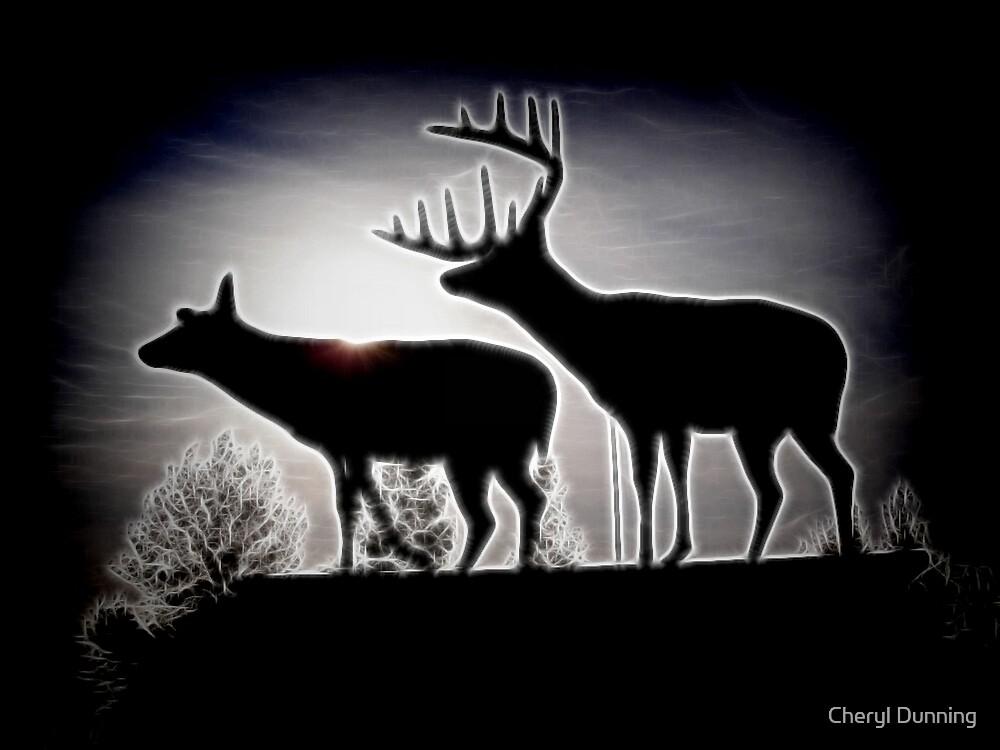 deer silhouette by Cheryl Dunning