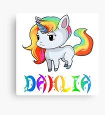 Dahlia Unicorn Metal Print