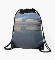 West Kirby boating lake view, Wirral UK Drawstring Bag