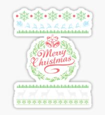 Merry Christmas Sweatshirt Sticker