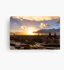 After the rain - Amsterdam Sunset Canvas Print
