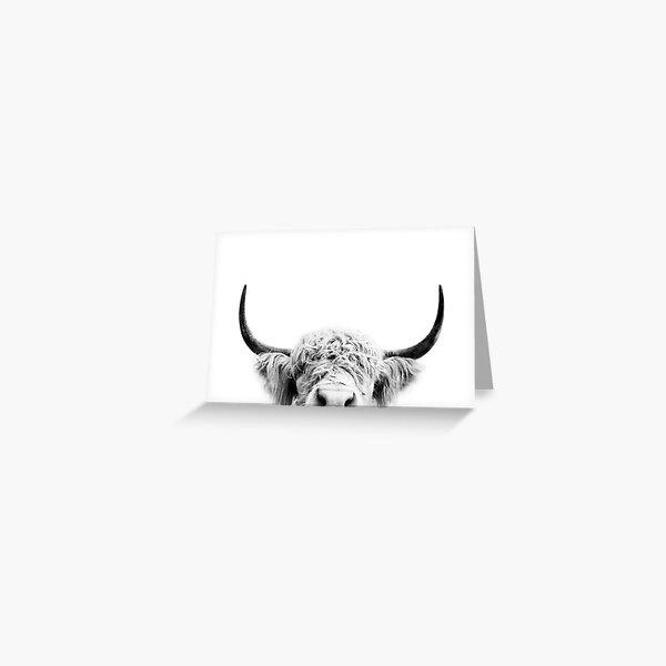 Peeking Cow Greeting Card
