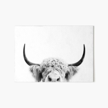 Peeking Cow Art Board Print