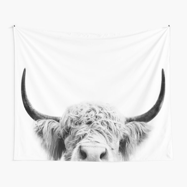 Peeking Cow Tapestry