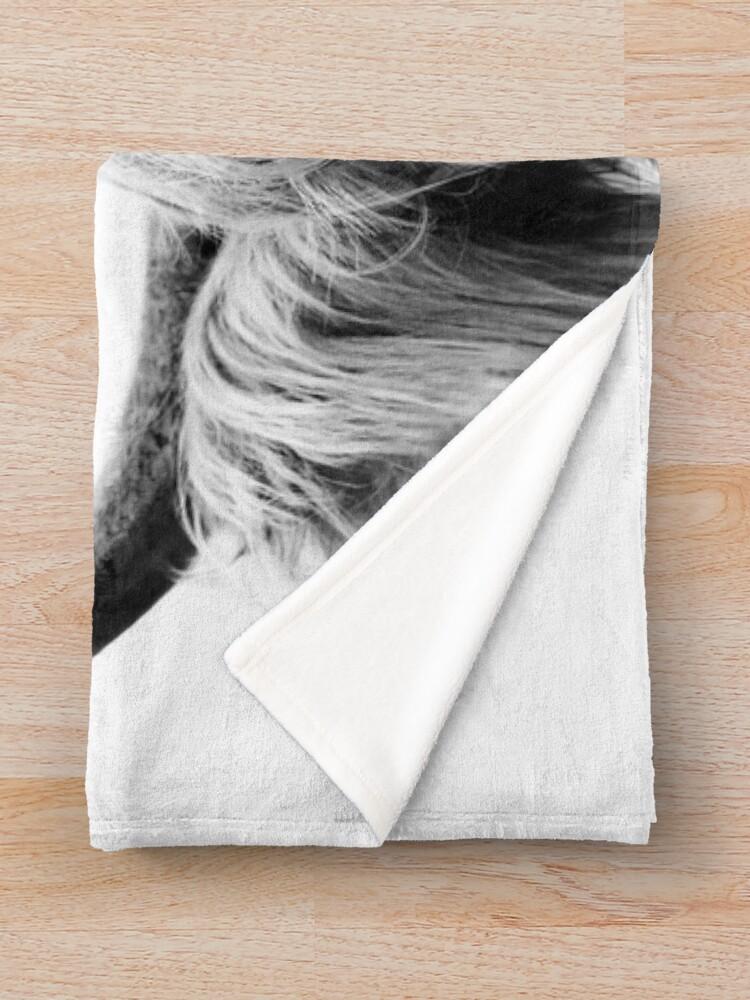 Alternate view of Peeking Cow Throw Blanket