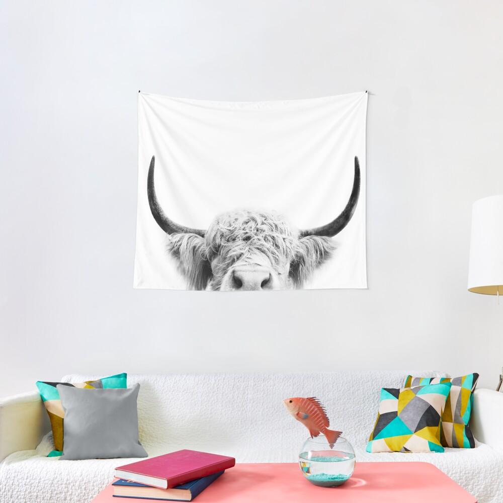Peeking Cow Tapestry
