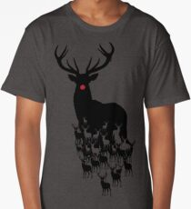Rudolph the red nosed reindeer pattern Long T-Shirt