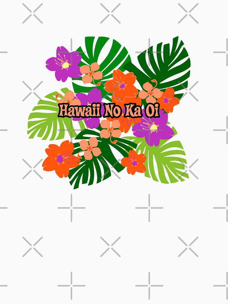 Limahuli Garden Faux Wood Hawaiian Surfboard - Orange and Violet by DriveIndustries