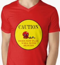 Tako-Chan Does Not Play Well.. Mens V-Neck T-Shirt