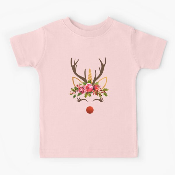Antlers Decor Colorful Boys and Girls Soft Short Sleeve T-Shirt,Deer at Sunset A