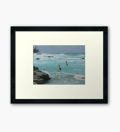 Swim Area Framed Print
