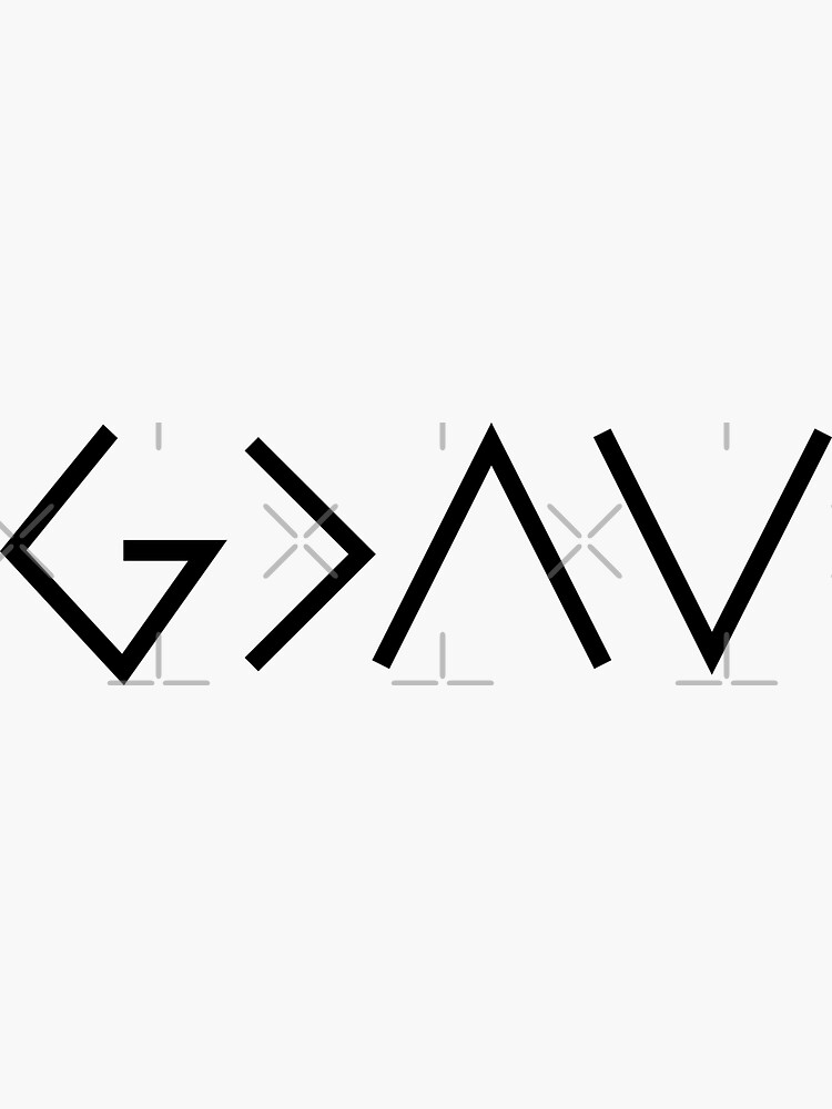God is greater than the highs and lows - Christian Quote - Black And White by ChristianStore