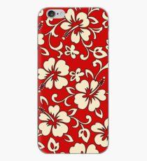 Malia Hawaiian Hibiscus Aloha Shirt Print - Red iPhone Case