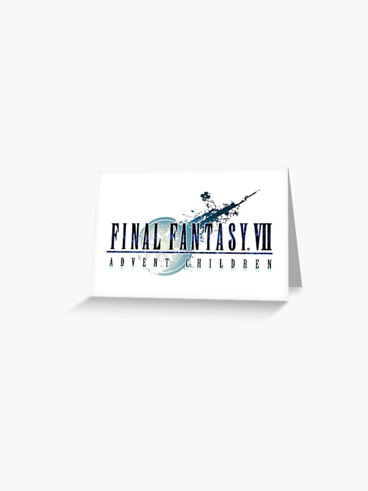 Final Fantasy Final Fantasy Vii Advent Children Greeting Card By