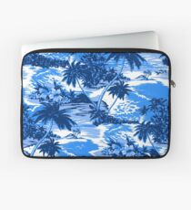 Napili Bay Scenic Hawaiian Aloha Shirt Print - Blue Laptop Sleeve