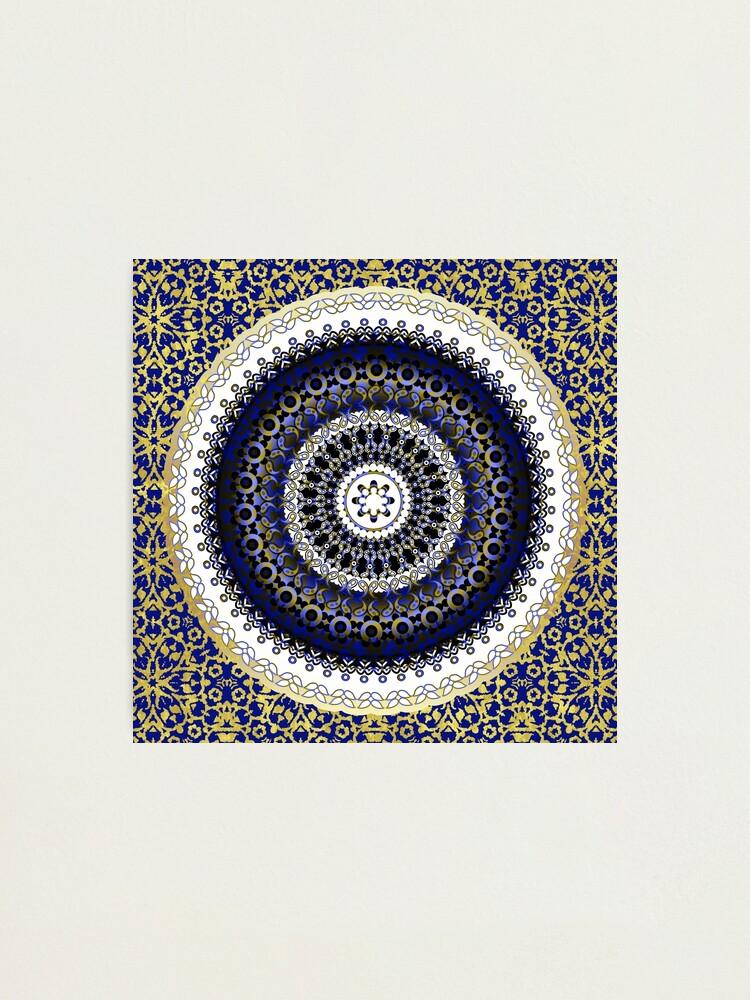 Alternate view of Royal Baroque Mandala Photographic Print