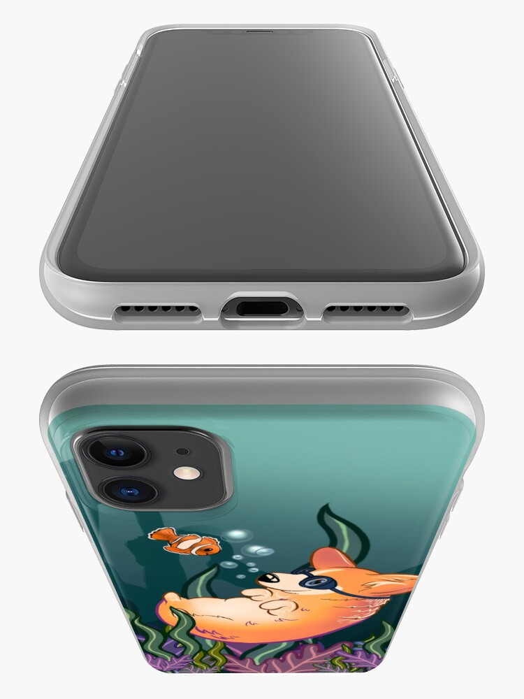 Alternate view of Underwater Corgi  and Clown Fish iPhone Case & Cover