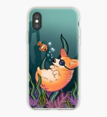 Underwater Corgi  and Clown Fish iPhone Case