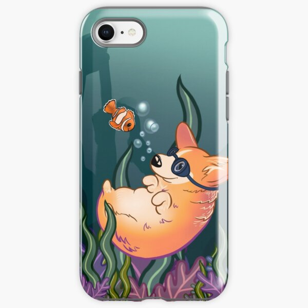 Underwater Corgi  and Clown Fish iPhone Tough Case