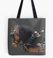 Pony in Harness grey Tote Bag