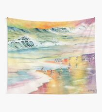 Shoreline Watercolor Wall Tapestry