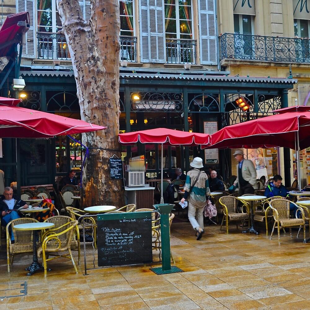 Pluie à Aix en Provence, France by Thomas Barker-Detwiler