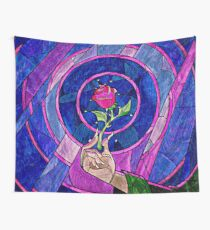 rose beauty and the beast Wall Tapestry