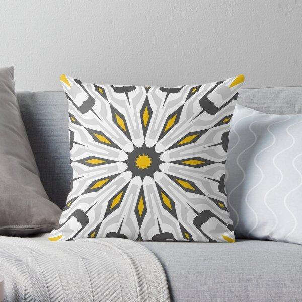Mustard Concrete  Throw Pillow