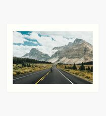 skating the icefields parkway Art Print