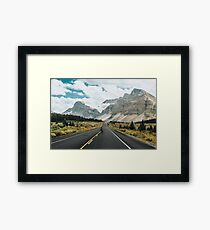 skating the icefields parkway Framed Print
