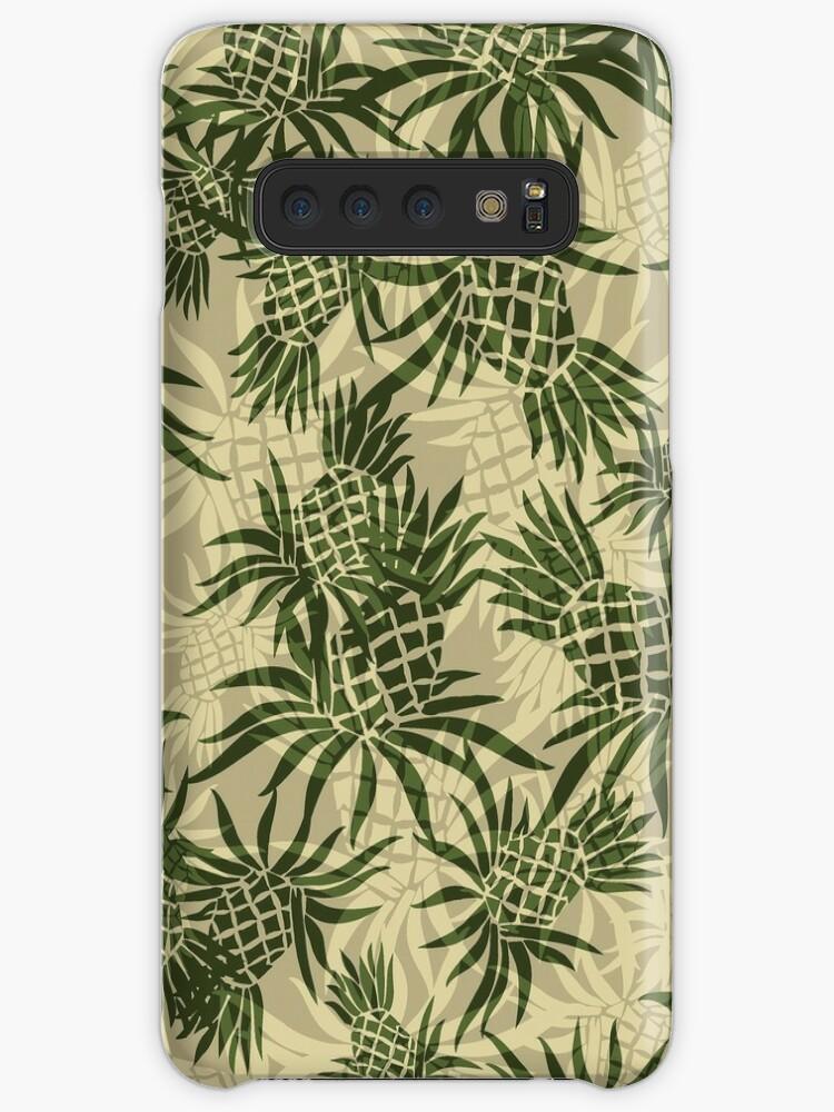 f0396373 Pineapple Camo Hawaiian Aloha Shirt Print - Olive & Khaki
