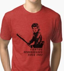 Steve Fighting (Stranger Things) Tri-blend T-Shirt