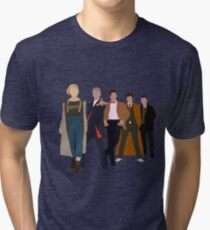 Doctor Who - All Five Modern Doctors - New Costume! (DW Inspired) Tri-blend T-Shirt
