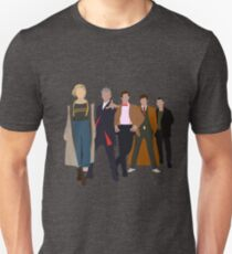 Doctor Who - All Five Modern Doctors - New Costume! (DW Inspired) Unisex T-Shirt