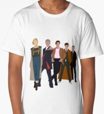 Doctor Who - All Five Modern Doctors - New Costume! (DW Inspired) Long T-Shirt