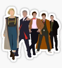 Doctor Who - All Five Modern Doctors - New Costume! (DW Inspired) Sticker