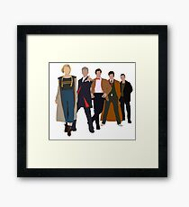 Doctor Who - All Five Modern Doctors - New Costume! (DW Inspired) Framed Print