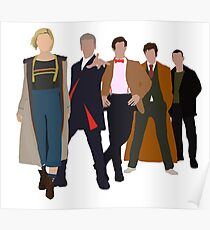 Doctor Who - All Five Modern Doctors - New Costume! (DW Inspired) Poster