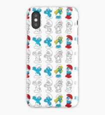 smurfs lineart iPhone Case/Skin