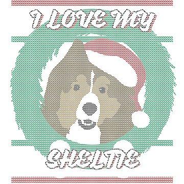 I Love My Sheltie - Ugly Christmas Sweater by nicklindsay1895