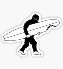 Bigfoot Surfero/ Surfer Bigfoot Sticker
