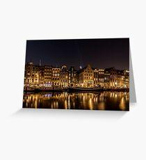 Night Amsterdam Greeting Card