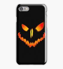 Spooky Jack O Lantern Face iPhone Case/Skin