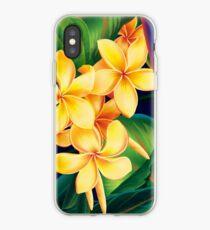 Tropical Paradise Hawaiian Plumeria Illustration iPhone Case