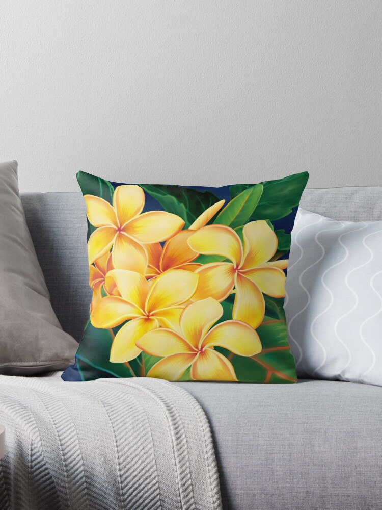 Tropical Paradise Hawaiian Plumeria Illustration by DriveIndustries