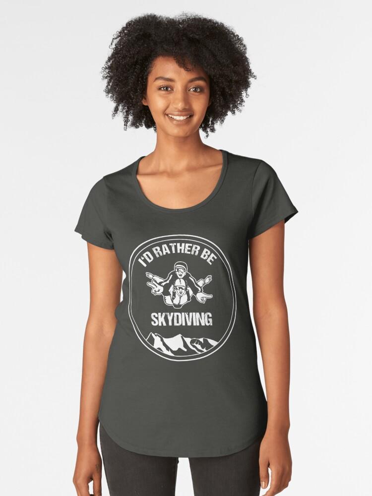 «camiseta Premium Del Épica Paracaidista Mujer Para Camisetas qtTRwPxwd