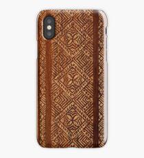 Samoan Tapa Faux Koa Wood Hawaiian Surfboard  iPhone Case/Skin
